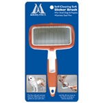 Self-Cleaning Soft Slicker Brush For Small Dogs and Puppies