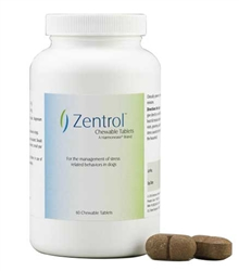 Zentrol Chewable Tablets For Dogs, 60 Count