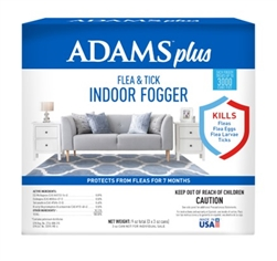 Adams Plus Flea & Tick Indoor Fogger 9 oz (3 x 3 oz Cans/Box)