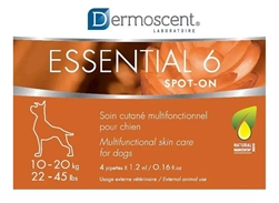 Dermoscent Essential 6 Spot-On Skin Care For Medium Dogs 10-20 kg (22-45 lbs) 4 Tubes