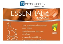 Dermoscent Essential 6 Spot-On Skin Care For Large Dogs 20-40 kg (45-90 lbs) 4 Tubes