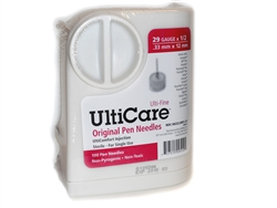 "UltiCare UltiGuard Original Pen Needles 29 ga. x 1/2"", Dispenser and Sharps Container, Box of 100"