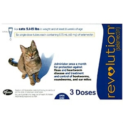 Revolution For Cats 5-15 lbs, 3 Doses