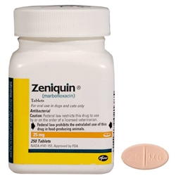 Zeniquin 25mg, 250 Tablets