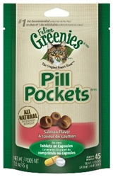 Feline Greenies Pill Pockets, Salmon Flavor, 1.6 oz, 6 Pack