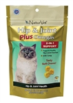 NaturVet Hip & Joint Plus Omegas Soft Chews For Cats, 50 Count
