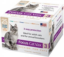 Focus Cat Vax 3 Vaccine w/Syringe, 1 Dose