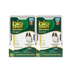 Bio Spot Defense Flea & Tick Spot On, Dogs 6-12 lbs, 6 Months