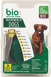 Bio Spot Active Care Flea & Tick Spot On For Large Dog 31-60 lbs, 3 Months