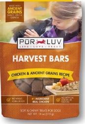 Pur Luv Harvest Bars, Chicken & Ancient Grains, 18 oz