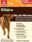 Sentry HC WormX Plus 7 Way De-Wormer For Medium & Large Dogs Greater Than 25 lbs, 6 Chewable Tablets