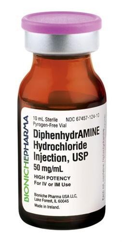 Diphenhydramine canine dose