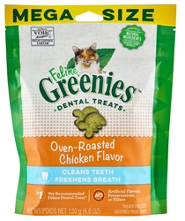Feline Greenies Dental Treats, Oven Roasted Chicken Flavor, 4.6 oz
