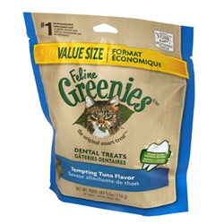 Feline Greenies Dental Treats, Tempting Tuna Flavor, 5.5 oz
