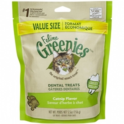 Feline Greenies Dental Treats - Catnip Flavor, 5.5oz