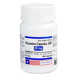 Fluoxetine 20 mg, 100 Capsules