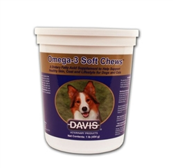 Davis Omega-3 Soft Chews For Dogs & Cats, 1 lb