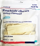 Covetrus Rawhide Chews Poultry Flavored for 26-50 lbs, 30 Chews LARGE DOGS (BLUE)