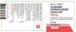 Trazodone 100mg, 100 Tablets