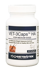 Vet-3Caps HA For Medium Breeds, 60 Softgels