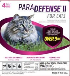 ParaDefense II For Cats Over 9 lbs, 4 Doses