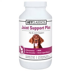 Vet Classics Joint Support Plus For Dogs, 120 Chewable Tablets