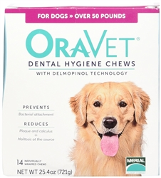 Oravet  Dental Hygiene Chews Large Dogs 10 to 24 lbs, 14 Chews
