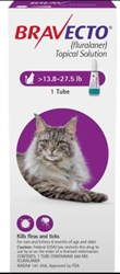Bravecto (Fluralaner) Topical Solution For Large Cats 13.8-27.5 lbs