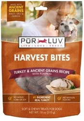 Pur Luv Harvest Bites, Turkey & Ancient Grains With Cranberry, 18 oz