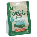 Greenies Freshmint Dental Chews for Dogs, Petite, 20 Count
