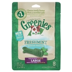 Greenies Freshmint Dental Chews for Dogs, Large, 9 Count