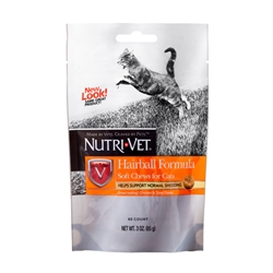 Nutri-Vet Hairball Formula Soft Chews for Cats, 3 oz