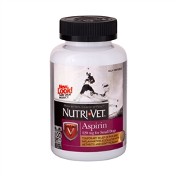Nutri-Vet Aspirin 300mg For Small Dogs, 100 Chewables