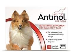 Antinol Joint Health Supplement For Dogs, 30 SoftGels