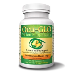 Ocu-GLO Vision Supplement for Medium & Large Dogs 11 lbs and Over, 90 Gelcaps