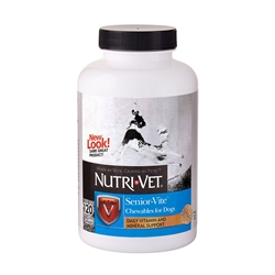 Nutri-Vet Senior-Vite Chewables For Dogs, 120 Count
