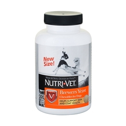 Nutri-Vet Brewers Yeast Flavored With Garlic For Dogs, 300 Chewable Tablets
