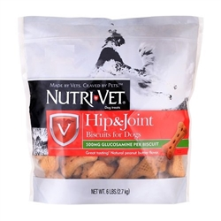 Nutri-Vet Hip & Joint Biscuits For Dogs, 6 lbs