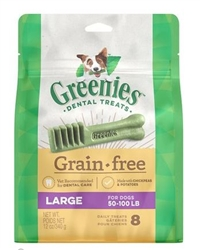Greenies Grain Free Dental Dog Treats - Large, Pkg Of 8