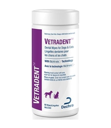 Vetradent Dental Wipes For Dogs & Cats, 60 Count