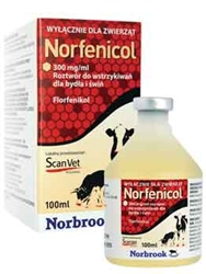 Norfenicol (florfenicol) Injection, 100 ml