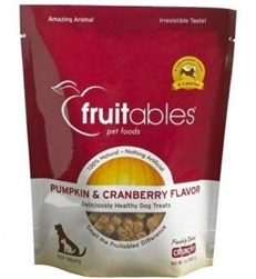 Fruitables Natural Dog Treats, Pumpkin & Cranberry 7 oz