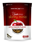 Fruitables Skinny Minis Natural Dog Treats, Apple Bacon, 5 oz