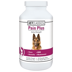 Vet Classics Pain Plus For Dogs, 120 Chewable Tablets