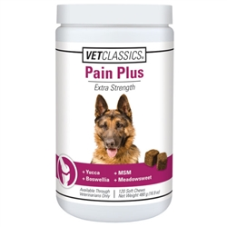 Vet Classics Pain Plus For Dogs, 120 Soft Chews