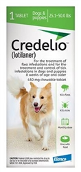 Credelio (Lotilaner) Chewable Tablet For Dogs 25.1-50 lbs, 1 Chew
