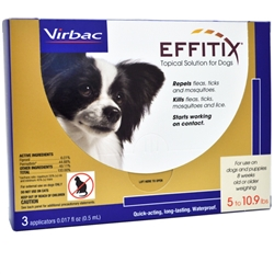 EFFITIX Topical Solution For Dogs 5-10.9 lbs, 3 Month Supply