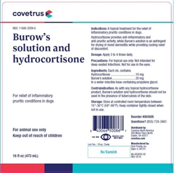 Covetrus Burow's Solution & Hydrocortisone, 16 oz