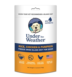 Under the Weather Rice, Chicken & Pumpkin Freeze Dried Bland Diet For Dogs, 6 oz