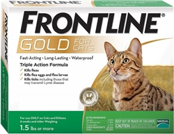 Frontline Gold For Cats, Green 6 Tubes